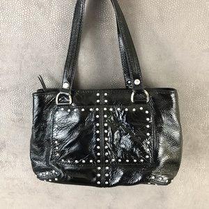 Michael Kors- Vintage Black Patent Studded Handbag